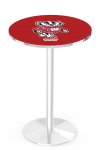 Wisconsin Badgers Bucky L214 Chrome Pub Table