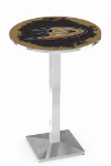 Anaheim Ducks L217 Chrome Pub Table