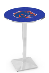 Boise State Broncos L217 Chrome Pub Table