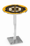 Boston Bruins L217 Chrome Pub Table