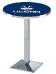 Connecticut Huskies L217 Chrome Pub Table