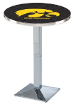 Iowa Hawkeyes L217 Chrome Pub Table