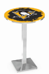 Pittsburgh Penguins L217 Chrome Pub Table
