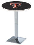 Texas Tech Red Raiders L217 Chrome Pub Table