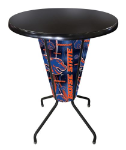 Boise State Lighted Pub Table w/ Broncos Logo - Black Top