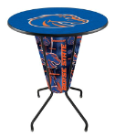 Boise State Lighted Pub Table w/ Broncos Logo - D1
