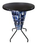 Eastern Illinois Lighted Pub Table w/ Panthers Logo - Black Top