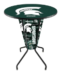 Michigan State Lighted Pub Table w/ Spartans Logo - D1