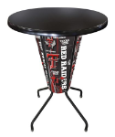 Texas Tech Lighted Pub Table w/ Raiders Logo - Black Top