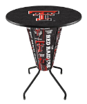Texas Tech Lighted Pub Table w/ Raiders Logo - D1