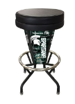 "Michigan State Bar Stool w/ Spartans Logo Swivel Seat - 30"" Lighted"