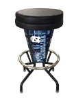 "North Carolina Bar Stool w/ Tar Heels Logo Swivel Seat - 30"" Lighted"