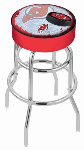 New Jersey Bar Stool w/ Devils Logo Swivel Seat - L7C1-D2