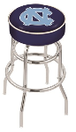 North Carolina Bar Stool w/ Tar Heels Logo Swivel Seat - L7C1