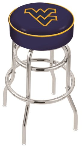 West Virginia Bar Stool w/ Mountaineers Logo Swivel Seat - L7C1