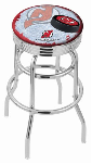 New Jersey Bar Stool w/ Devils Logo Swivel Seat - L7C3C-D2