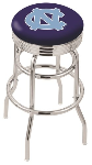 North Carolina Bar Stool w/ Tar Heels Logo Swivel Seat - L7C3C