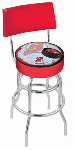 New Jersey Bar Stool w/ Devils Logo Swivel Seat - L7C4-D2