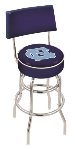 North Carolina Bar Stool w/ Tar Heels Logo Swivel Seat - L7C4