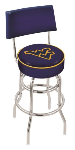 West Virginia Bar Stool w/ Mountaineers Logo Swivel Seat - L7C4