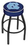 North Carolina Bar Stool w/ Tar Heels Logo Swivel Seat - L8B1