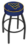 West Virginia Bar Stool w/ Mountaineers Logo Swivel Seat - L8B1