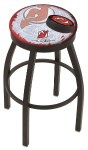 "New Jersey Bar Stool w/ Devils Logo Swivel Seat - 18"" L8B2B-D2"