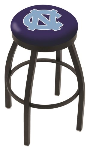 North Carolina Bar Stool w/ Tar Heels Logo Swivel Seat - L8B2B