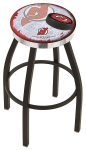 New Jersey Bar Stool w/ Devils Logo Swivel Seat - L8B2C-D2