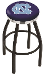 North Carolina Bar Stool w/ Tar Heels Logo Swivel Seat - L8B2C
