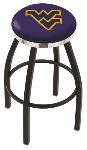 West Virginia Bar Stool w/ Mountaineers Logo Swivel Seat - L8B2C