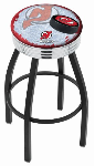 New Jersey Bar Stool w/ Devils Logo Swivel Seat - L8B3C-D2
