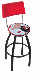 New Jersey Bar Stool w/ Devils Logo Swivel Seat - L8B4-D2