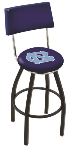 North Carolina Bar Stool w/ Tar Heels Logo Swivel Seat - L8B4