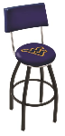 West Virginia Bar Stool w/ Mountaineers Logo Swivel Seat - L8B4