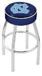 North Carolina Bar Stool w/ Tar Heels Logo Swivel Seat - L8C1
