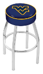 West Virginia Bar Stool w/ Mountaineers Logo Swivel Seat - L8C1