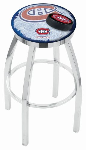 Montreal Bar Stool w/ Canadiens Logo Swivel Seat - L8C2C-D2