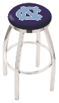 North Carolina Bar Stool w/ Tar Heels Logo Swivel Seat - L8C2C