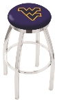 West Virginia Bar Stool w/ Mountaineers Logo Swivel Seat - L8C2C