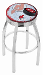 New Jersey Bar Stool w/ Devils Logo Swivel Seat - L8C3C-D2