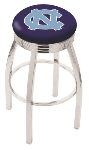 North Carolina Bar Stool w/ Tar Heels Logo Swivel Seat - L8C3C