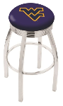 West Virginia Bar Stool w/ Mountaineers Logo Swivel Seat - L8C3C