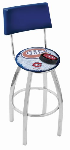 Montreal Bar Stool w/ Canadiens Logo Swivel Seat - L8C4-D2