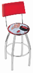 New Jersey Bar Stool w/ Devils Logo Swivel Seat - L8C4-D2