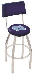 North Carolina Bar Stool w/ Tar Heels Logo Swivel Seat - L8C4