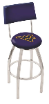 West Virginia Bar Stool w/ Mountaineers Logo Swivel Seat - L8C4