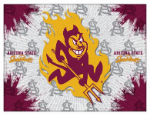"Arizona State Canvas Art w/ Sun Devils Logo - 15"" x 20"" Print"