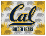 "California Canvas Art w/ Golden Bears Logo - 15"" x 20"" Print"