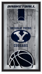Brigham Young Cougars Basketball Logo Mirror